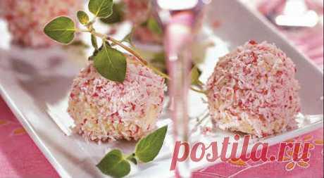 Сырные шарики с крабовыми палочками - рецепт с фото