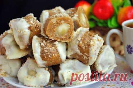 Лучшие кулинарные рецепты: Конфеты с банановой начинкой