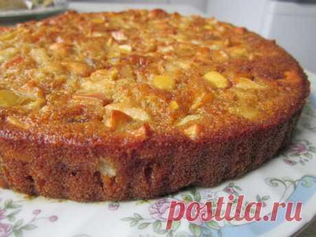 Постный фруктовый пирог - Здоровый аппетит