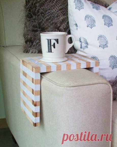 Подставка для чашки на диван. #DIY_Идеи