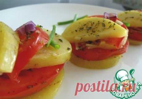 Запеченные помидоры по-итальянcки - кулинарный рецепт