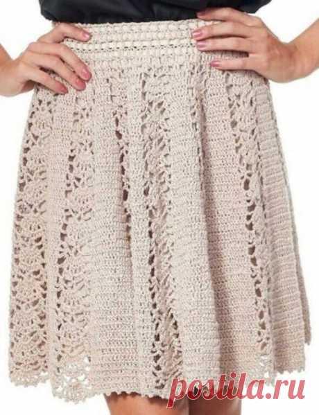 Узор крючком для ажурной юбки