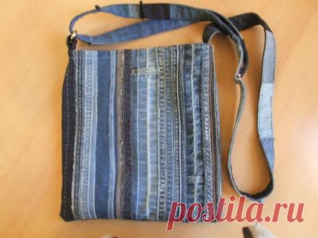 Идеи сумок и клатчей из старых джинсов.   Handmade для всех   Яндекс Дзен