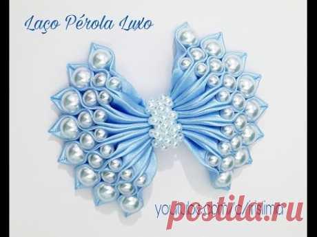 Laço de Cetim Com Pérolas \ud83c\udf80 Laço Pérola Luxo \ud83c\udf80 DIY \ud83c\udf80 PAP \ud83c\udf80 TUTORIAL \ud83c\udf80 Iris Lima - YouTube