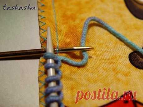 Оригинальный и легкий способ набора петель на ткани для обвязки спицами или крючком   Создавай сам   Яндекс Дзен