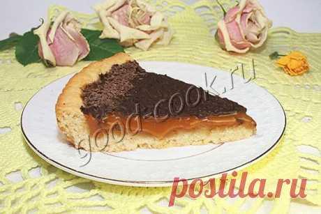 Песочный пирог с ирисками и шоколадом. Рецепт приготовления
