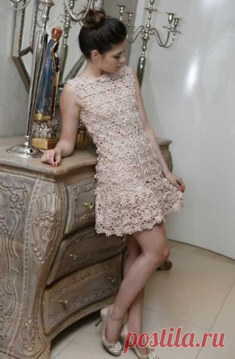 Платье Ванессы Монторо схемы. Красивое платье из цветочных мотивов |