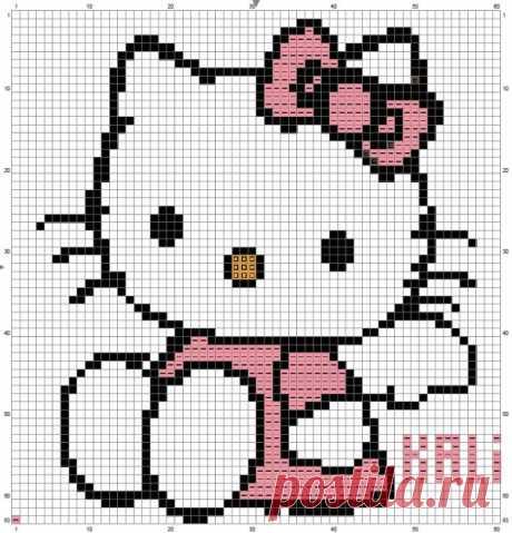 Kitty вышивка крестиком