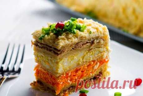 Салат «Наполеон» — оригинальное блюдо к Новогоднему столу | ВокругСада.ру