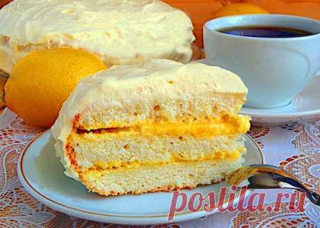 Торт с лимонным кремом рецепт с фото - 1000.menu