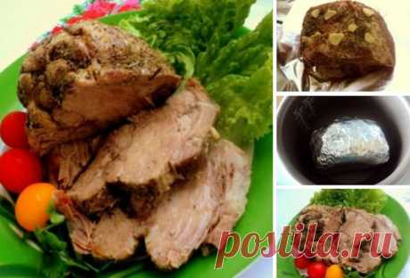 Boiled pork in the crock-pot
