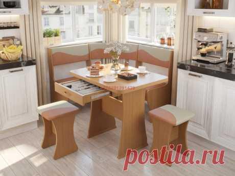 Кухонный уголок Титул-мини (ольха горская/брауни, латте): купить в Минске недорого, низкие цены, скидки, рассрочка