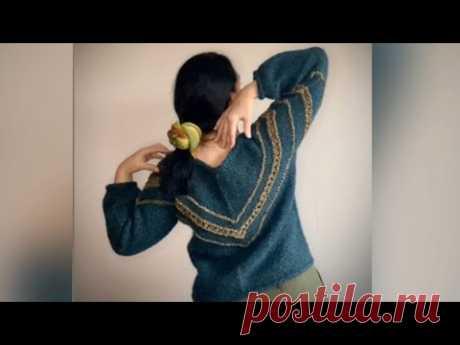 Как связать диагональный пуловер?! Мастер-класс. 2 Часть
