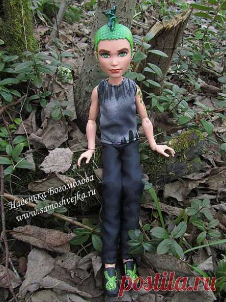 Брюки и майка для куклы-мальчика Дьюса Горгона из Monster High (Школа Монстров)   Самошвейка - сайт для любителей шитья и рукоделия