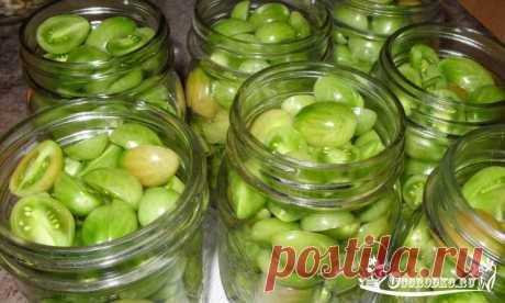 Зеленые помидоры с горчицей на зиму, фото рецепт