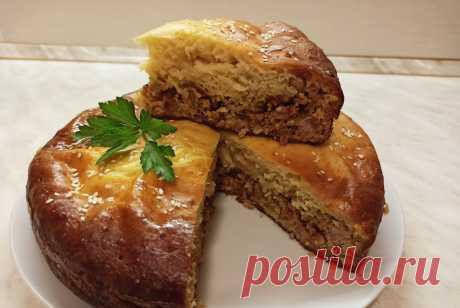 Пирог заливной на кефире с фаршем - Домашняя кулинария - медиаплатформа МирТесен