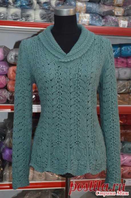 Вязание для женщин. Кофточка - японский ажур