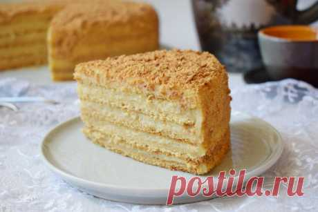 Торт медовик с заварным кремом классический рецепт с фото пошагово - 1000.menu