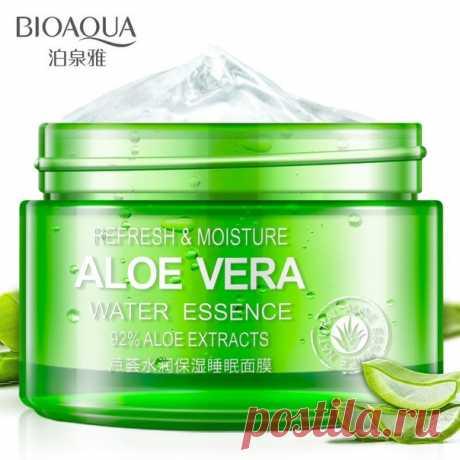 В НАЛИЧИИ  Большое поступление уходовой и декоративной косметики BioAqua Aloe Vera 92% Освежающий и увлажняющий крем-гель для лица и шеи с экстрактом алоэ вера 50 гр Увлажняющий и освежающий крем-гель с лёгкой текстурой на 92% состоит из алоэ вера — вещества, обладающего способностью стимулировать регенерацию тканей, насыщать клетки эпидермиса влагой. Средство подходит для всех типов кожи, может применяться как база под макияж, так как оказывает матирующее действие. Показать полностью…