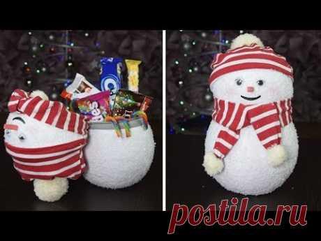 Киндер СНЕГОВИК из бумаги с сюрпризом внутри!☃️Kinder Surprise DIY Snowman