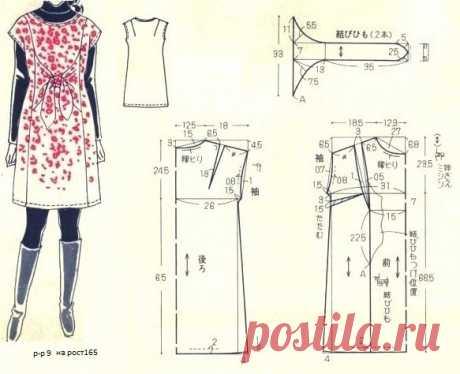 Платье со вшитым пояском Модная одежда и дизайн интерьера своими руками