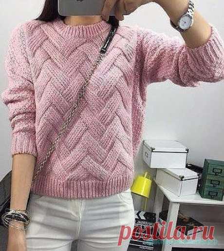 Красивый свитер спицами. Красивый свитер спицами. Как связать красивый свитер спицами Схема вязания Красивого свитера спицами.
