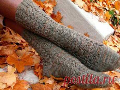 Ажурные носки спицами: схемы. Узоры для носков