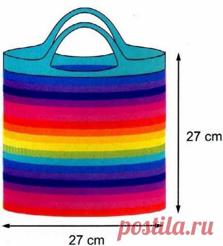 Радужная сумка для яркого настроения из категории Интересные идеи – Вязаные идеи, идеи для вязания