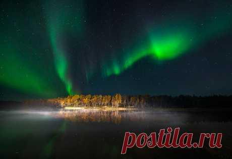 Озеро Килпъявр, Мурманская область. Автор фото — Виталий Новиков: nat-geo.ru/photo/user/40200/ Спокойной ночи.
