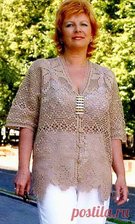 Летние блузы для полных женщин крючком филейной техникой – 4 схемы узоров с описанием