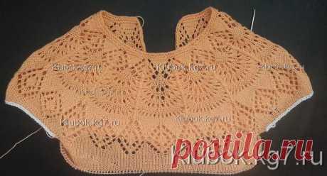 Круглая кокетка для детского платья на основе шали Фрея | Клубок
