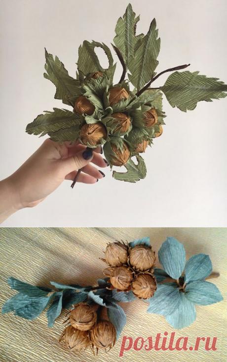 Лесные орешки из бумаги — оригинальная упаковка для любимых сладостей