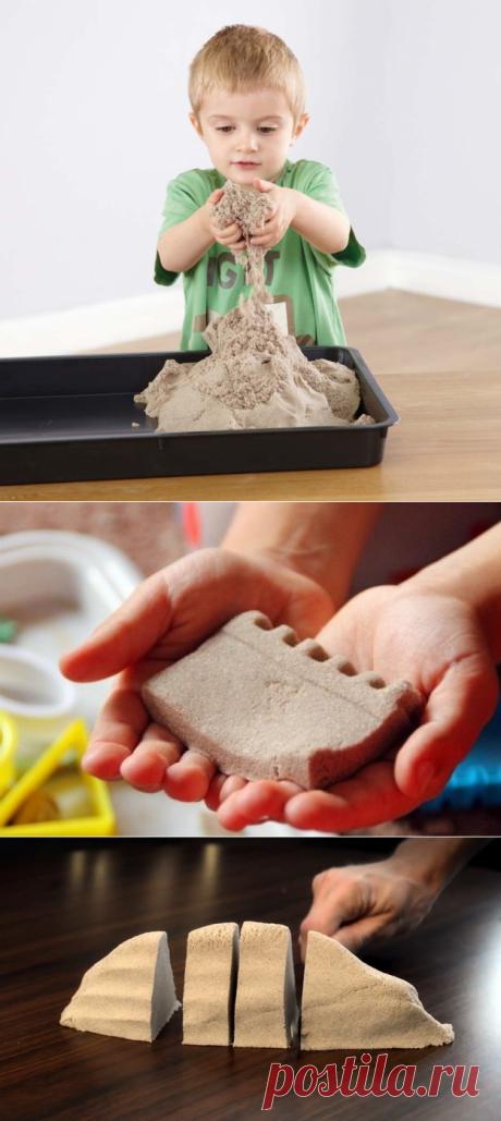 Кинетический песок своими руками за 5 минут — Сделай сам, идеи для творчества - DIY Ideas