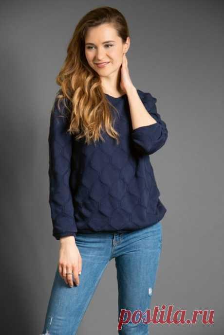 Выкройка пуловер женский, р. 34 - 44 евро.