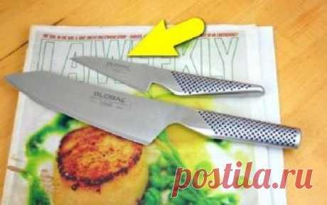 Японец показал весьма неожиданный способ, как быстро заточить ножи Нож снова станет бритвенно острым без особых усилий и специального оборудования.