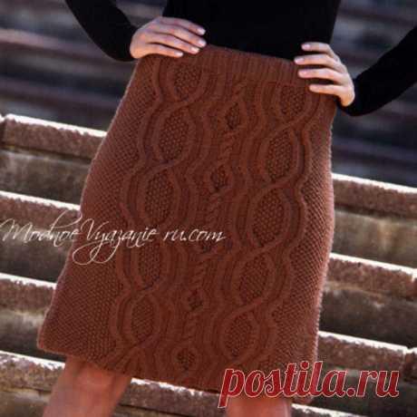 Стильные юбки спицами - Модное вязание