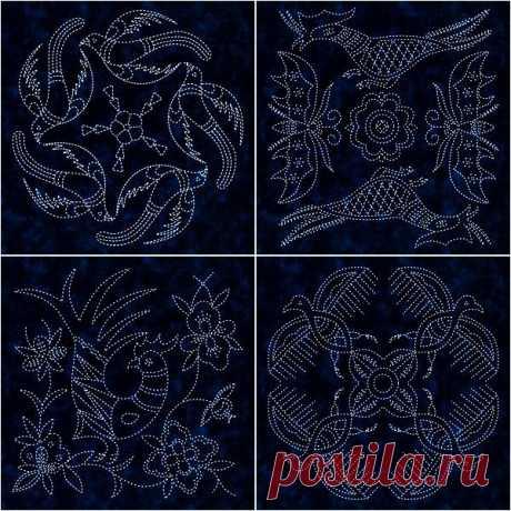 Японская вышивка сашико: 30 красивых схем ~ Свое рукоделие