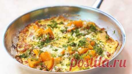 Королевский завтрак по-итальянски - настоящее наслаждение! Фриттата на сковороде за 10 минут