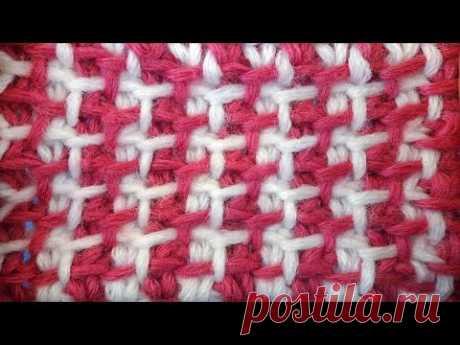 Tunisian crochet pattern Тунисский узор со снятыми петлями тунисское вязание   15