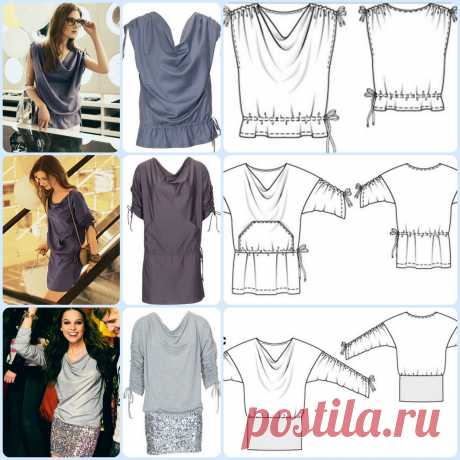Simple patterns from Burda: top, tunic, blouse