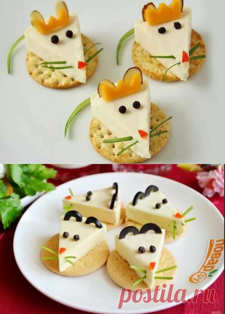 Интересные Идеи оформления новогодних закусок в год Крысы. | Блог предпенсионерки | Яндекс Дзен