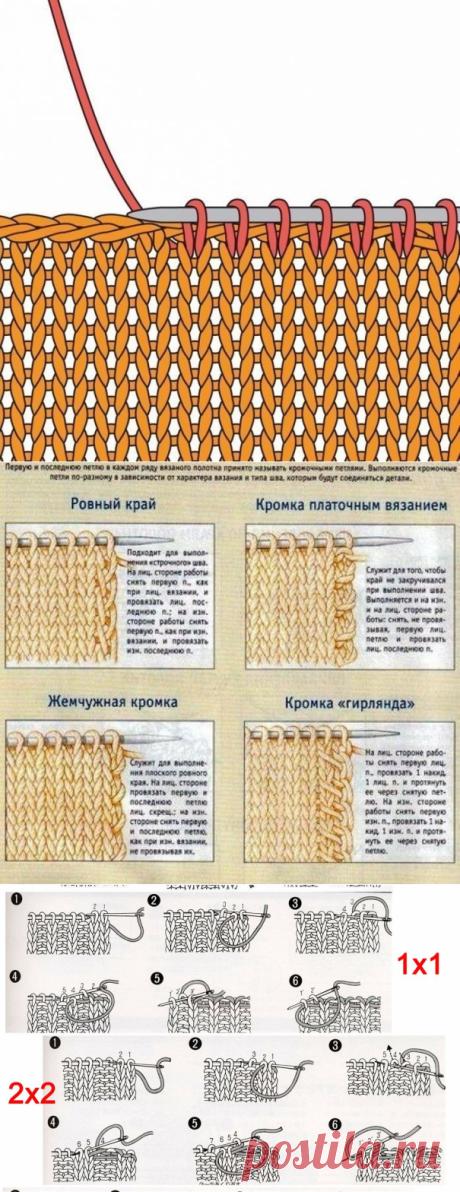 Подсказки для вязания спицами - в картинках! Процессы работы в вязании спицами! | Юлия Жданова | Яндекс Дзен