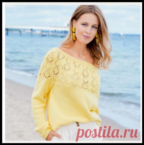 СЕМЬ моделей спицами с описанием в очень красивом желтом цвете!