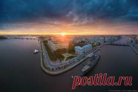 Панорама над Петербургом. Автор фото: Иван Смелов.