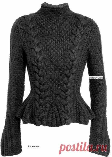 Модный пуловер спицами | Вяжем с Лана Ви