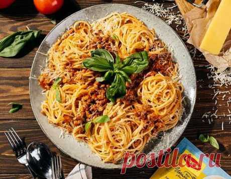 """Аппетитные макароны по-итальянски в соусе """"Болонез"""", пошаговый рецепт с фото"""