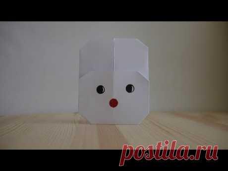 Оригами. Как сделать кролика из бумаги (видео урок) - YouTube
