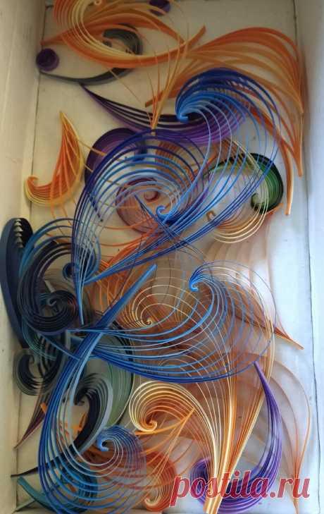 Яркие краски для картины в технике бумажной филиграни. Меня зовут Мария Миронова и я мастер по квиллингу (бумажная филигрань). Из тонких бумажных полос создаю ажурные композиции. Тут меня посетило творческое настроение: чего-то хочу, но не знаю что))) Поэтому я взяла одну из моих многочисленных коробочек и заглянула в нее, что же за сокровища я там храню. У меня много коробок, в которые я складываю оставшиеся, непригодившиеся к этому проекту или рукоделие, рукоделие,сделай...
