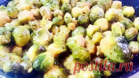 Овощной гарнир - запеченная брюссельская капуста - пошаговый кулинарный рецепт приготовления с фото, шаг за шагом.