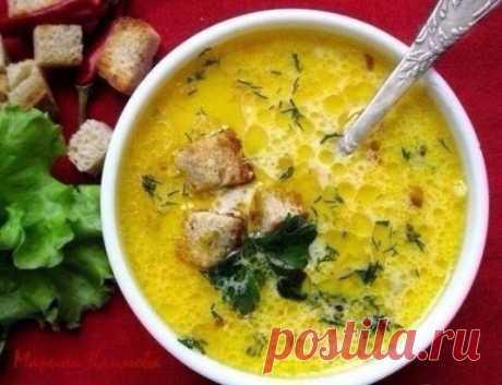 Сливочно сырный суп с ветчиной и сухариками Рецепт: https://www.recepty-s-photo.com/slivochno-syrnyj-sup-s-vetchinoj-i-suharikami/